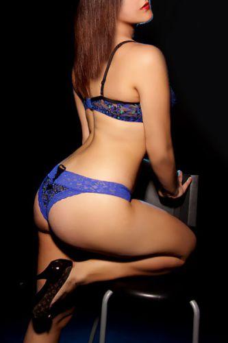 Beautiful nude woman tan line